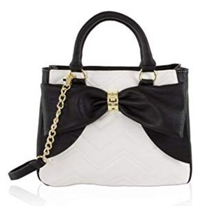 Betsey Johnson BLACK BOW SATCHEL